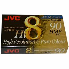 JVC 8mm Video Cassette Tape Ideal For Sony Digital 8 Camcorder Metal Particle
