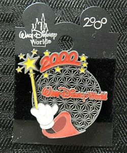 "Walt Disney World 2000 LE ""MICKEY MOUSE WIZARD MAGIC WAND EPCOT CENTER"" PIN MINT"