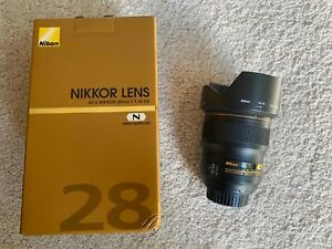 Nikon Nikkor AF-S 28mm F/1.4 E ED Lens (Black)