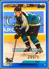 TOPPS 2003 VINCENT DAMPHOUSSE NHL SAN JOSE SHARKS #114 RARE BLUE LIMITED /500