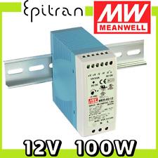Alimentatore stabilizzato regolabile DC da barra DIN 12V 100W 8.3A Mean Well
