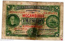 Mozambique PORTUGAL ULTRAMARINO Billet 1 ESCUDO 1941 P81 CHAMICO DE OLIVEIRA