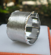 White Band Ring- this is Unique ring -Sterling Silver 925 Size N