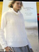 CLECKHEATON KNITTING PATTERN MOSS CABLE SWEATER SUPER FINE MERINO LEAFLET NO.429
