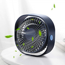 Small Personal USB Desk Fan 3 Speeds Portable Desktop Table Cooling Fan Powered