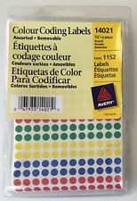 """NEW - AVERY-  1152 COUNT 4 COLOURED CODING LABELS 1/4""""  (FAST CANADIAN SHIPPING)"""