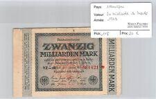 BILLET ALLEMAGNE - 20 MILLIARDS DE MARKS - 1923