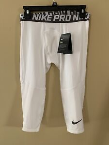 Nike Pro Boy's 3/4 Length Tights ~ Youth X-Large ~ White ~ New !!!