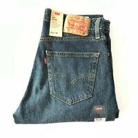 NWT Men's Levi's 511 Slim Fit Stretch Cotton Straight Leg Jeans Dark Blue All Sz