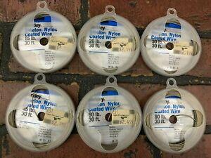 Berkley Steelon Nylon Coated Wire Fishing Lure Rigging 30 Ft LOT OF 6
