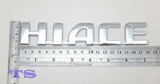 Logo Hiace Chrome Rear Tailgate Emblem Decal Fit Toyota Commuter Van 2005 10 15