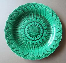 *Antique Late 19th Century 22cm Wide Wedgwood Green Majolica Leaf Plate
