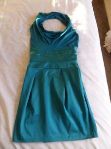 Diva Catwalk Blue-Green Halter Neck Bodycon Pencil Dress Size S/8