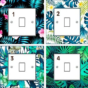 Tropical Leaf Light Switch Sticker Surrounds