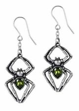 Alchemy E428 - Emerald Venom  - Swarovski Crystal Pewter Droppers