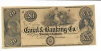 $20 New Orleans  Maiden Eagle Louisiana Canal & Banking Company 18XX G32