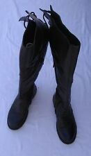 Steve Madden Women's 8 Black Leather Riding Boots Over the Knee Omega