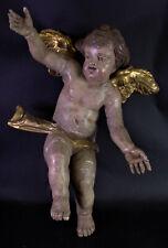 grosser alter Engel - Barockengel - Holz geschnitzt & gefasst - 56cm