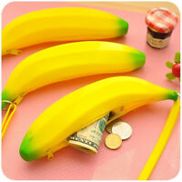 Womens Cute Banana Wallets Squeeze Rubber Change Small Mini Coin Purse Coin Bag