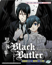 Black Butler Kuroshitsuji (Season 1 -3 +Moive + 9 OVA ) DVD with English Audio