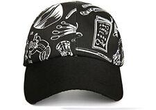 CHEF WORKS COOL VENT COLLECTION BLACK ADJUST BASEBALL CAP HAT