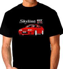 NISSAN  R32  GT-R  GTR   SKYLINE     QUALITY  BLACK   TSHIRT