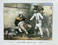 French Officer Infantry Love Sex Penis Vagina Erotic Art Akt Lithography 1830