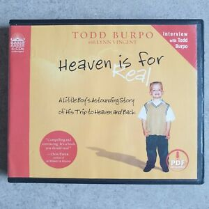 Heaven Is For Real, Todd Burpo with Lynn Vincent - 4 CD Audiobook (PFD included)