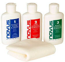 NEW! (3) Pack Novus Plastic Polish Scratch Remover Works Great! 3-2-1 Shine!