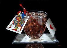 "*Michael Godard-""BLACKJACK & COKE"" Gambling-Las Vegas-Poker-Cocktails-Fun-Art*"