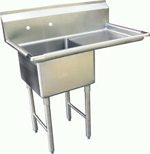 "1 Compartment S/S Utility Prep. Sink 18""x24""x14 w/ Right Drainboard Etl Sh18241R"