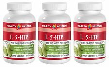L-5-HTP Helps Anti Depression & Positive Mood. Boosts Serotonin, (3 Bottles)