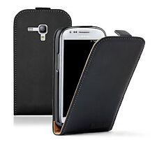 Ultra Slim BLACK Leather case cover for Samsung Galaxy S 3 mini i8190 LA FLEUR