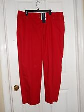 Jones New York Signature Petite New Womens Stretch Spice Red Slacks 8P Pants NWT