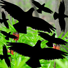 25cm Set schwarz 8 Aufkleber 3 Größen Vogel Warnvogel Fenster Schutz Deko Folie