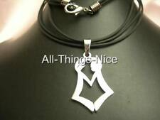 Steel Laser Pendant 30mm Best FRIENDS FOREVER Rubber Necklace Fashion Jewellery