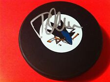 Todd McLellan Sharks Signed Puck  Holder Auto COA