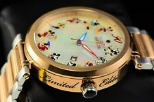Invicta 45mm Disney Limited Ed 90th Anniversary Rose Gold Mickey MOP TT Watch