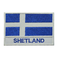 Shetland County Flag Patch Iron On Patch Sew On Embroidered Patch