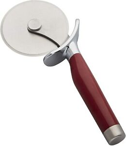 KitchenAid Stainless Steel Pizza Wheel with Finger Guard Red