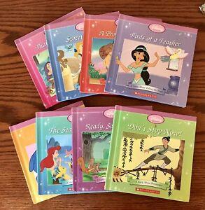 The Disney Princess Collection Scholastic Lot Of 8 Books - Hardback Educational