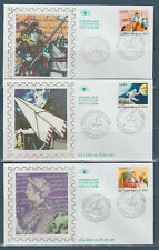 timbre France enveloppe 1er jour  les 6 journées de la lettre 75 Paris 1998