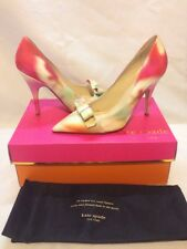 NWB $325 Kate Spade LILIA Giverny Floral Print Fabric Dress Bow Pump Sz 6.5 M