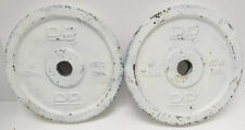 """Set Of 2 DP 13.2 Lb 6 Kilo Standard 1"""" Hole Barbell Weight Plates"""