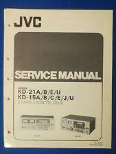 JVC KD-25 A B C E J U SERVICE MANUAL ORIGINAL FACTORY ISSUE THE REAL THING