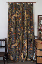 "Zoffany Arden Thick Velvet & Velvet Lined Winter Door Curtain 84"" Drop"