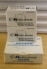 2x Midland 5161 VHF 2-Way Handheld Portable VHF Radios + Charging Base