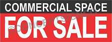 2'X5' COMMERCIAL SPACE FOR SALE BANNER Outdoor Sign Real Estate Property Retail