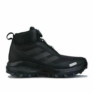 Boy's adidas Junior FortaRun Breathable Cushioned All Terrain Trainers in Black
