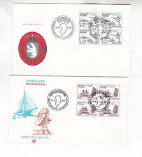 1982/5 two FDC with ship stamps              h2261
